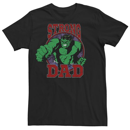 Men's Marvel Ithe Incredible Hulk Strong Dad Graphic Tee