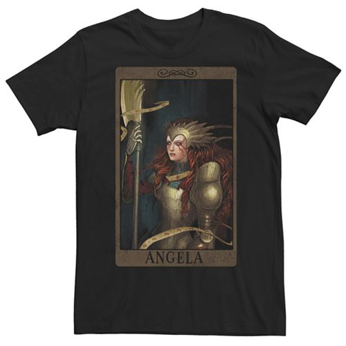 Men's Marvel Now Angela Card Graphic Tee