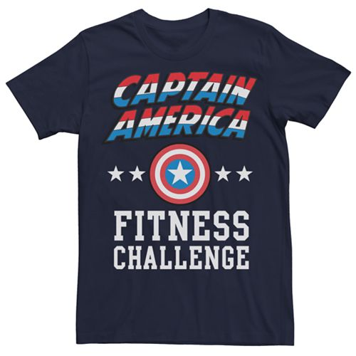 Men's Marvel Captain America Fitness Challenge Graphic Tee