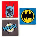 Delta Children DC Comics Batman 3 Piece Canvas Wall Art Set