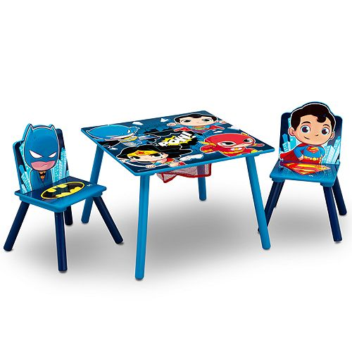 Delta Children DC Super Friends Kids Table and Chair Set with Storage