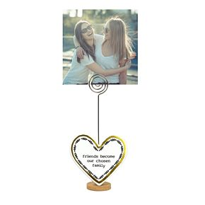 New View Gifts Friends Become Chosen Family Enamel Heart Clippie