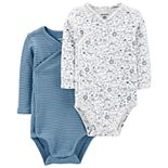 Baby Boy Carter's 2 Pack Kimono Animal Bodysuits