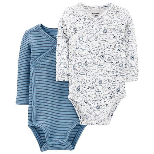 Baby Boy Carter's 2 Pack Kimono Animal Bodysuits