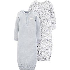 aaf6fc501 Baby Boy Carter's 2 Pack Animals Henley Sleep Gowns