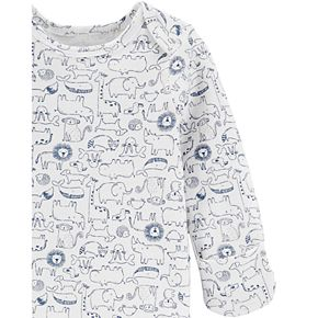 Baby Boy Carter's 2 Pack Animals Henley Sleep Gowns