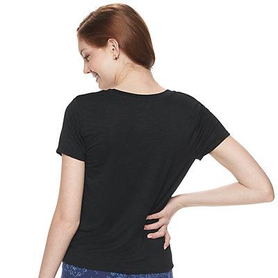 Juniors' SO® Tie Front Tee Stripe Pattern