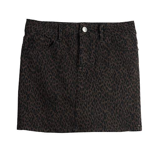 Girls 7-16 SO® Leopard Print Skirt