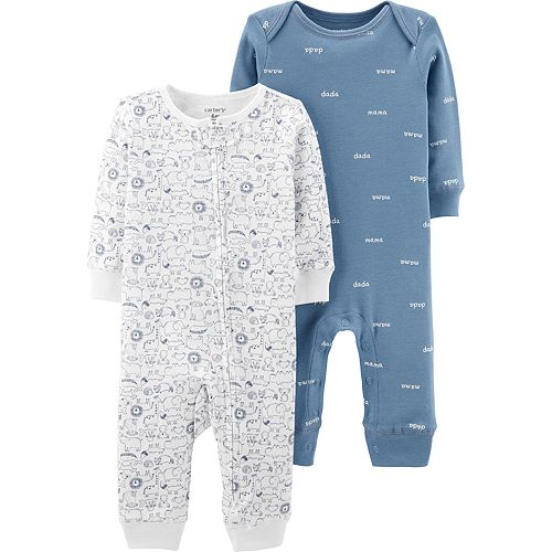 Baby Boy Carter's 2 Pack Animal Jumpsuits