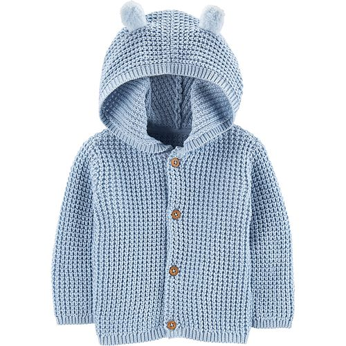 Baby Boy Carter's Knit Hooded Cardigan