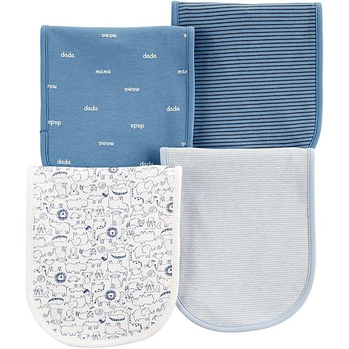 Baby Boy Carter's 4-Pack Print & Stripes Burp Cloths