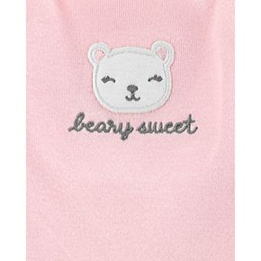 """Baby Girl Carter's 3 Piece """"Beary Sweet"""" Floral Bodysuits & Pants Set"""