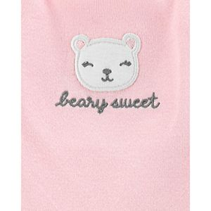 "Baby Girl Carter's 3 Piece ""Beary Sweet"" Floral Bodysuits & Pants Set"