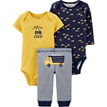 Baby Boy Carter's 3 Piece Construction Truck Bodysuits & Pants Set