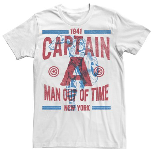 "Men's Captain America ""Man Out of Time"" Tee"
