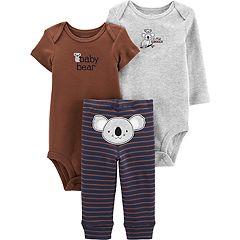 Baby Boy Carter's 3 Piece Koala Bodysuits & Turn Me Around Pants Set