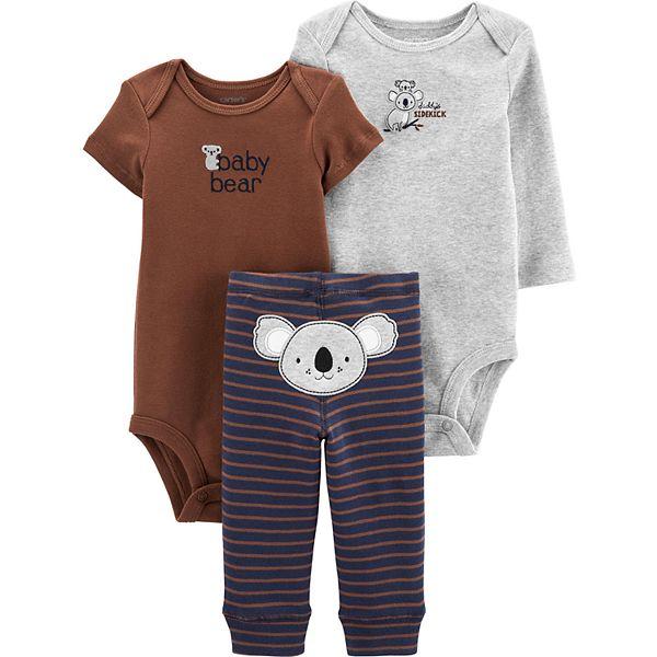 Baby Boy Carter S 3 Piece Koala Bodysuits Turn Me Around Pants Set
