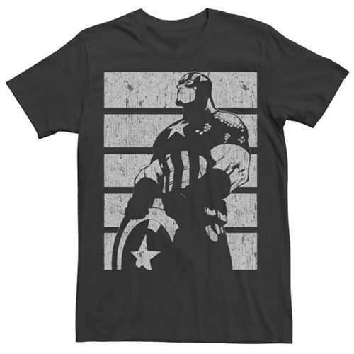 Men's Captain America Chalk Tee