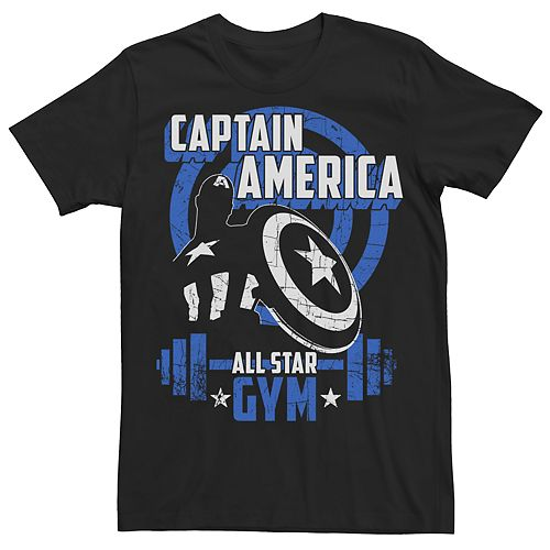 Men's Avengers Captain American Gym Tee