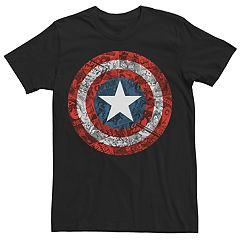 5ff2b489c7 Men s Marvel Comics Retro Captain America ComicBook Shield Tee