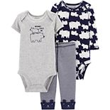 Baby Boy Carter's 3 Piece Polar Bear Bodysuits & Pants Set