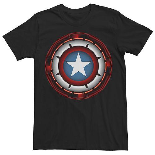 Men's Marvel Universe Captain America Futuristic Shield Tee