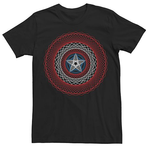 Men's Marvel Universe Captain America String Shield Tee