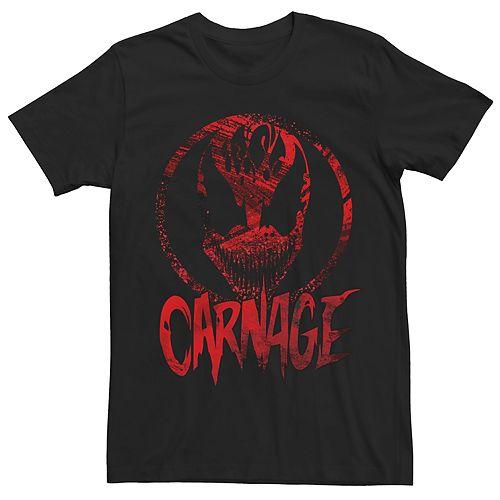 Men's Teen Guys Marvel Universe Carnage Red Short Sleeve Crew Tee