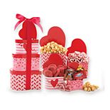 Alder Creek Valentine's Day Tower of Love Gift Basket