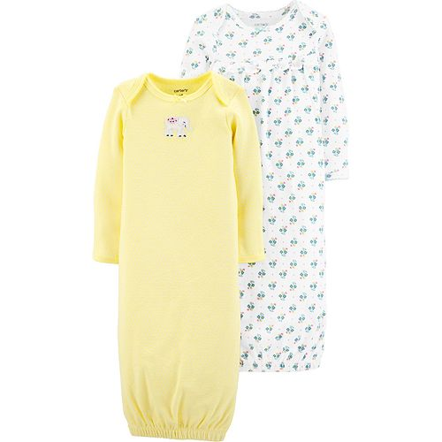 Baby Girl Carter's 2 Pack Elephant Sleep Gowns