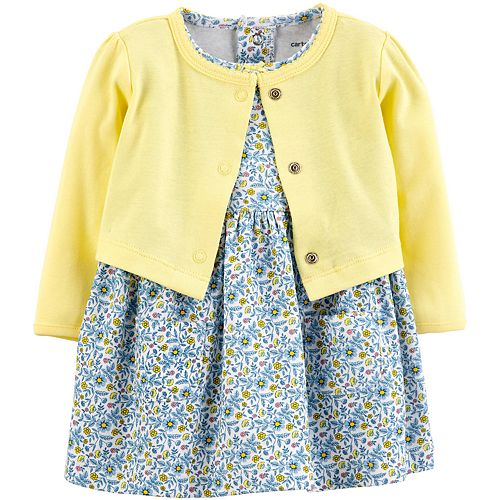 Baby Girl Carter's Cardigan & Floral Dress Set