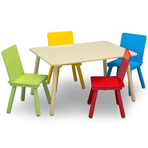 Delta Children Kids Colorful Table and Chair Set