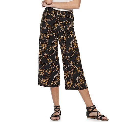 Juniors' Joe B Wide-Leg Twill Crop Pants