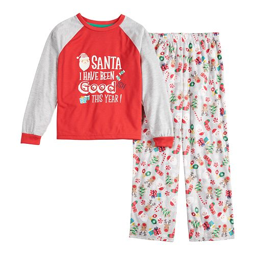 Boys 4-20 Jammies For Your Families Fun Santa Top & Bottoms Pajama Set by Cuddl Duds