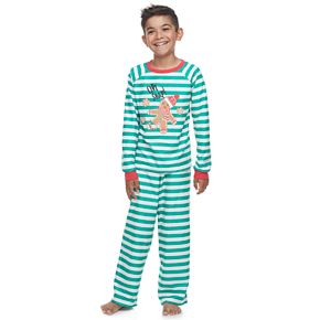 Boys 4-20 Jammies For Your Families Stripe Baking Top & Bottoms Pajama Set by Cuddl Duds