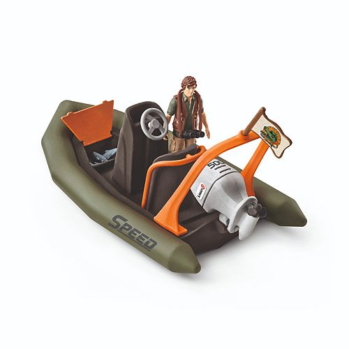 Schleich Wildlife Dinghy with Ranger Toy Figure