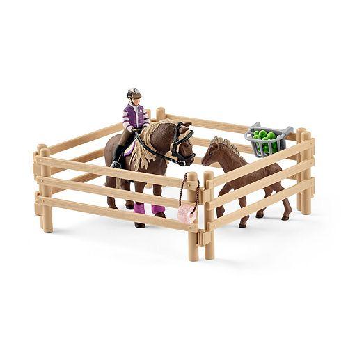 Schleich Farmland Rider with Icelandic Ponies Toy Figure