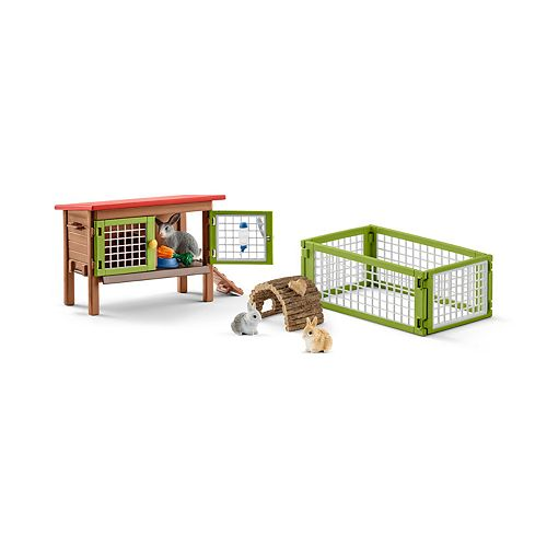Schleich Farmland Rabbit with Hutch Toy Figure