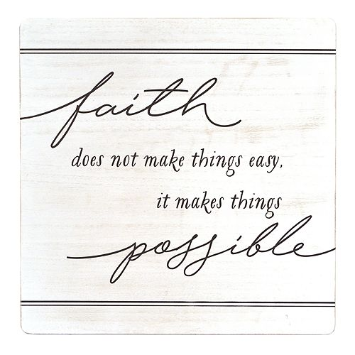 "New View Gifts ""Faith"" Wood Plaque"