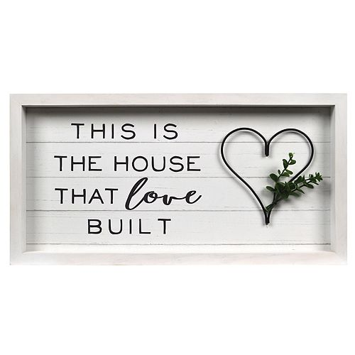 "New View Gifts ""This is the House that Love Built"" Rev Box Wall Art"
