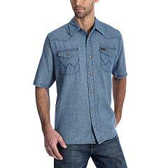 Men's Wrangler Denim Snap-Front Shirt