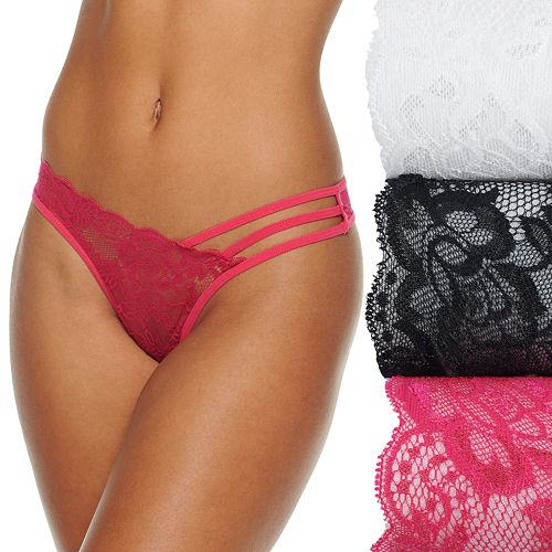 Women's It's Just A Kiss Galloon Lace Thong