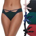 Juniors' It's Just A Kiss 3-pk. Lace Trim Micro Thong Panties
