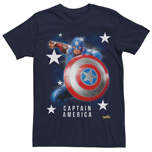 Men's Marvel Strike Force Captain America Graphic Tee