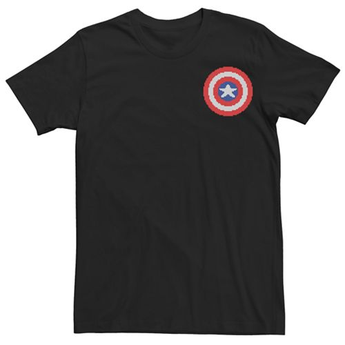 Men's Marvel Captain America Pixel Graphic Tee