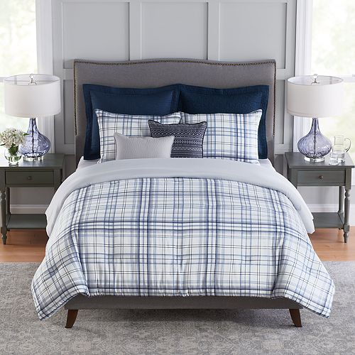 Croft & Barrow® Plaid Cotton Reversible Comforter Set