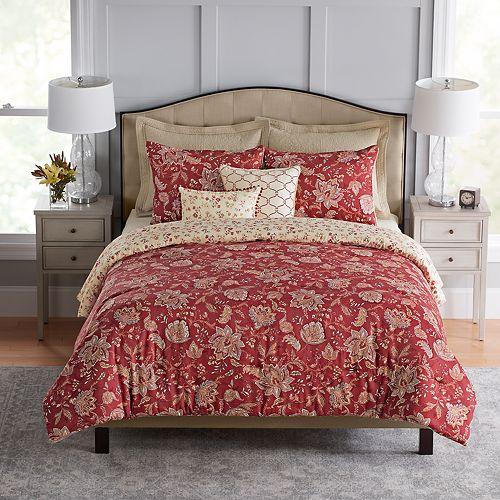 Croft Amp Barrow 174 Jacobean 5 Piece Reversible Comforter Set