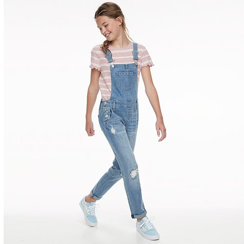 Girls 7-16 & Plus Size SO® Denim Overalls