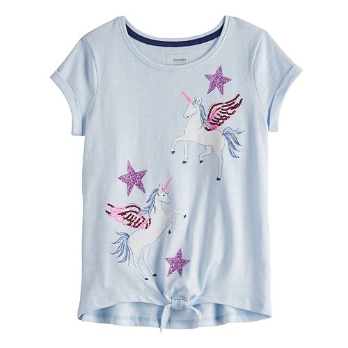 Girls 4-12 Sonoma Goods for Life™ Embellished Knot-Front Tee