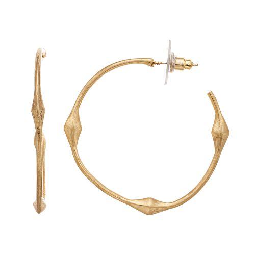 SONOMA Goods for Life™ Metal Bamboo J Hoop Earrings